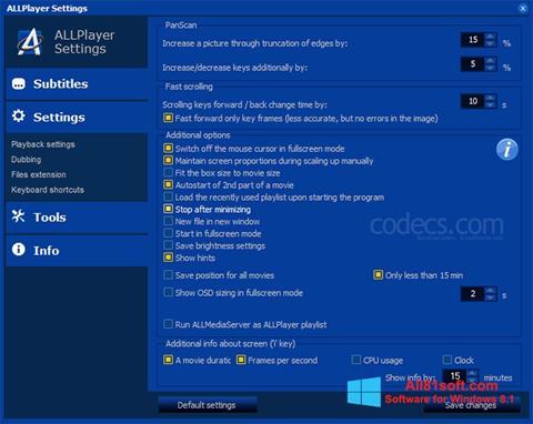 Ekran görüntüsü ALLPlayer Windows 8.1