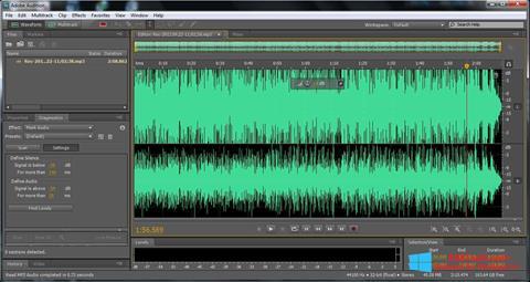 Ekran görüntüsü Adobe Audition Windows 8.1