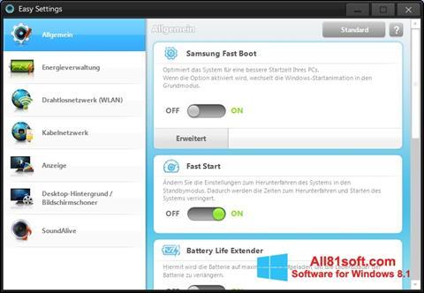 Ekran görüntüsü Easy Settings Windows 8.1