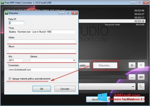 Ekran görüntüsü Free MP4 Video Converter Windows 8.1