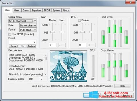 Ekran görüntüsü AC3Filter Windows 8.1