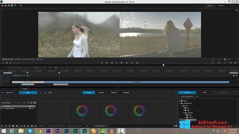 Ekran görüntüsü Adobe SpeedGrade Windows 8.1