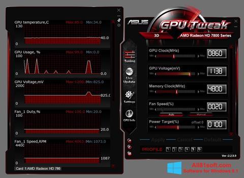 Ekran görüntüsü ASUS GPU Tweak Windows 8.1