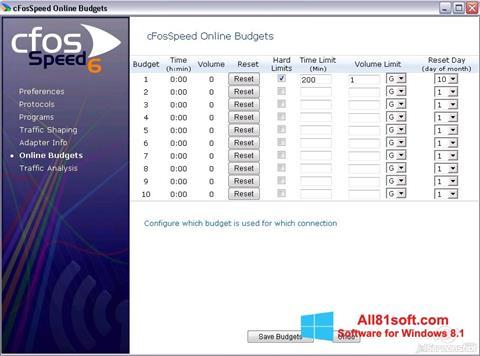 Ekran görüntüsü cFosSpeed Windows 8.1