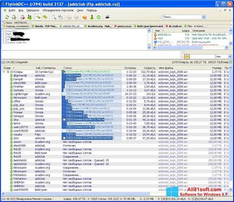 Ekran görüntüsü FlylinkDC++ Windows 8.1