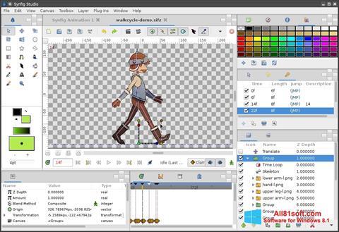 Ekran görüntüsü Synfig Studio Windows 8.1