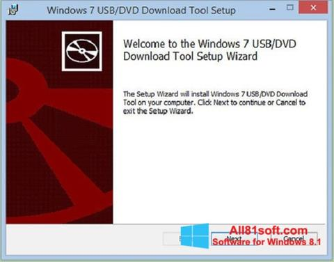 Ekran görüntüsü Windows 7 USB DVD Download Tool Windows 8.1