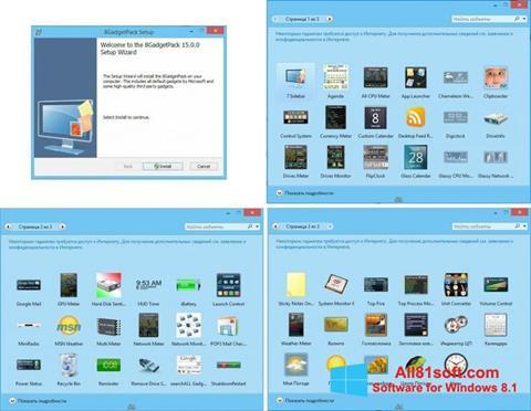 Ekran görüntüsü 8GadgetPack Windows 8.1