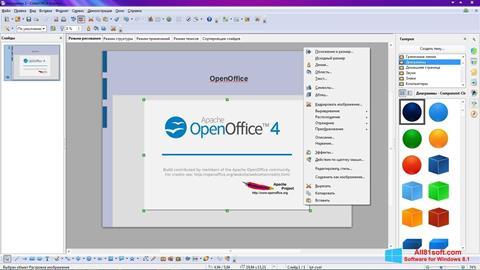 Ekran görüntüsü Apache OpenOffice Windows 8.1