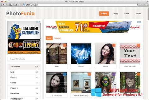 Ekran görüntüsü PhotoFunia Windows 8.1