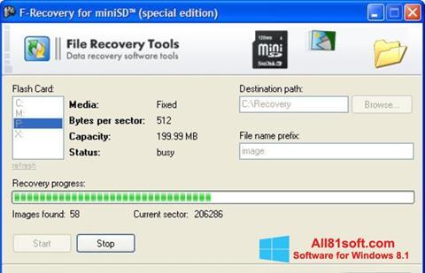 Ekran görüntüsü F-Recovery SD Windows 8.1