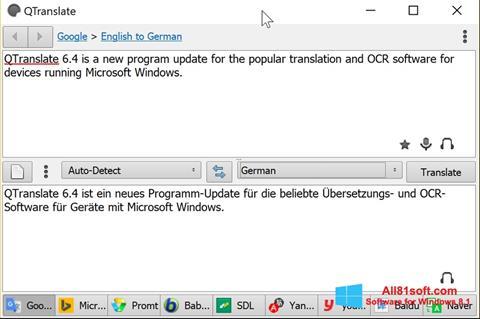 Ekran görüntüsü QTranslate Windows 8.1
