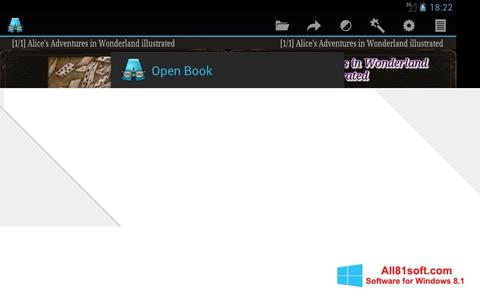 Ekran görüntüsü AlReader Windows 8.1