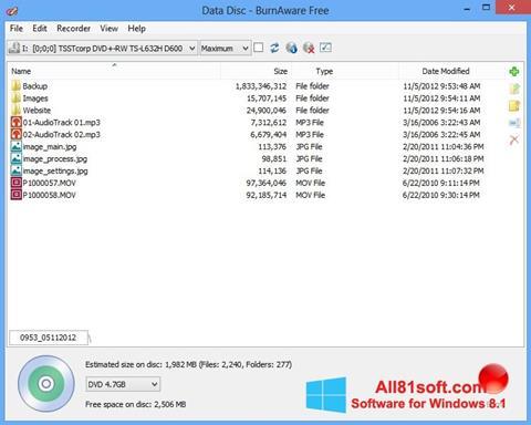Ekran görüntüsü BurnAware Free Windows 8.1