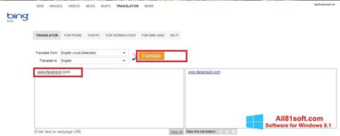 Ekran görüntüsü Bing Translator Windows 8.1