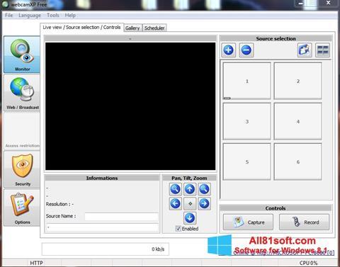 Ekran görüntüsü webcamXP Windows 8.1