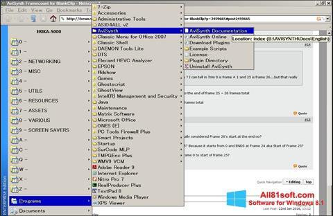 Ekran görüntüsü AviSynth Windows 8.1