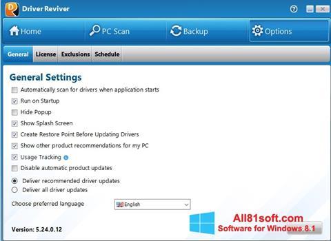 Ekran görüntüsü Driver Reviver Windows 8.1