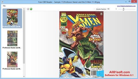 Ekran görüntüsü CBR Reader Windows 8.1