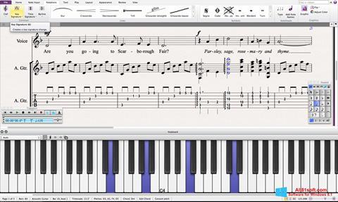 Ekran görüntüsü Sibelius Windows 8.1