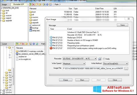 Ekran görüntüsü UltraISO Windows 8.1