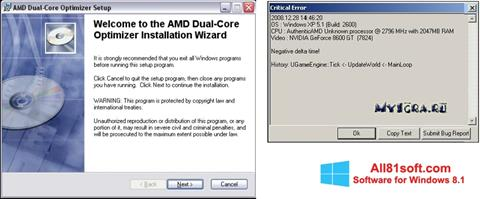 Ekran görüntüsü AMD Dual Core Optimizer Windows 8.1