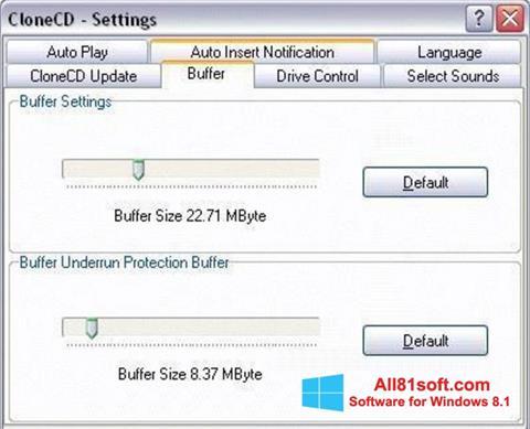 Ekran görüntüsü CloneCD Windows 8.1