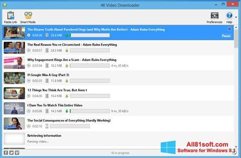 Ekran görüntüsü 4K Video Downloader Windows 8.1