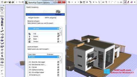 Ekran görüntüsü ArchiCAD Windows 8.1