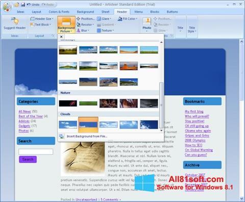 Ekran görüntüsü Artisteer Windows 8.1
