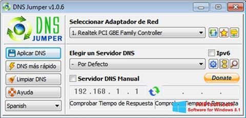Ekran görüntüsü DNS Jumper Windows 8.1
