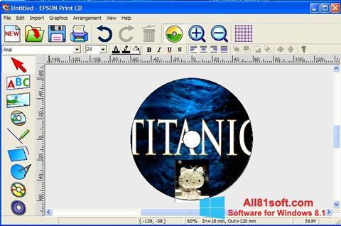 Ekran görüntüsü EPSON Print CD Windows 8.1