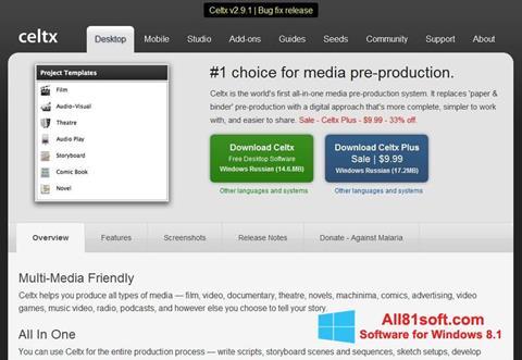 Ekran görüntüsü Celtx Windows 8.1
