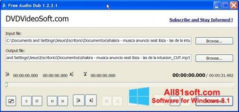 Ekran görüntüsü Free Audio Dub Windows 8.1