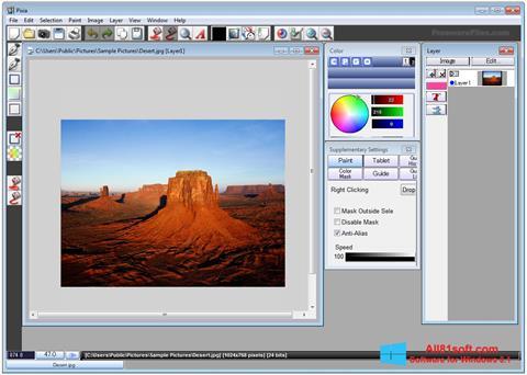 Ekran görüntüsü Pixia Windows 8.1