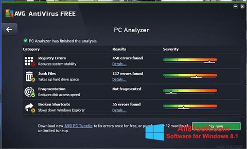 Ekran görüntüsü AVG AntiVirus Free Windows 8.1