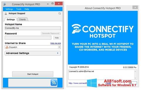 Ekran görüntüsü Connectify Pro Windows 8.1