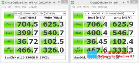 Ekran görüntüsü CrystalDiskMark Windows 8.1