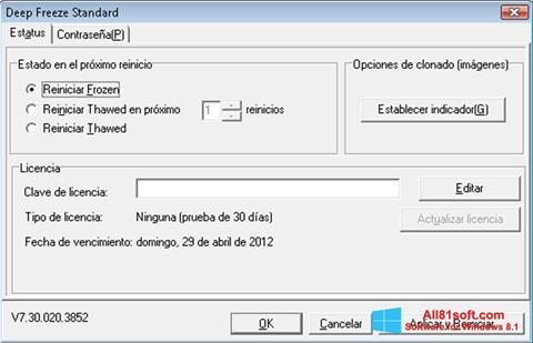 Ekran görüntüsü Deep Freeze Windows 8.1