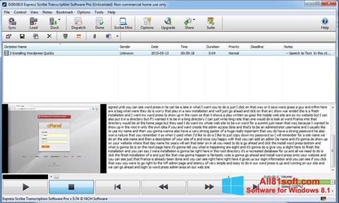 Ekran görüntüsü Express Scribe Windows 8.1