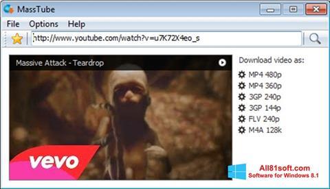 Ekran görüntüsü MassTube Windows 8.1