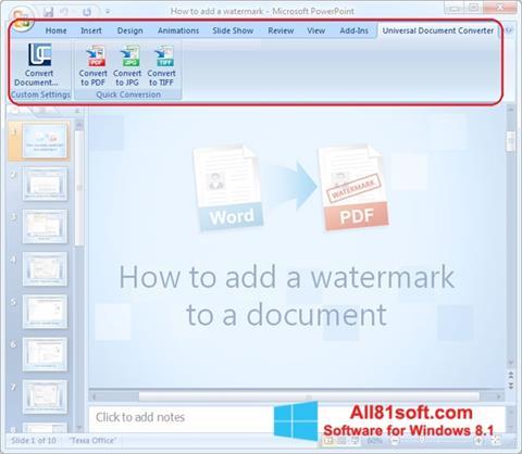 Ekran görüntüsü Microsoft PowerPoint Windows 8.1