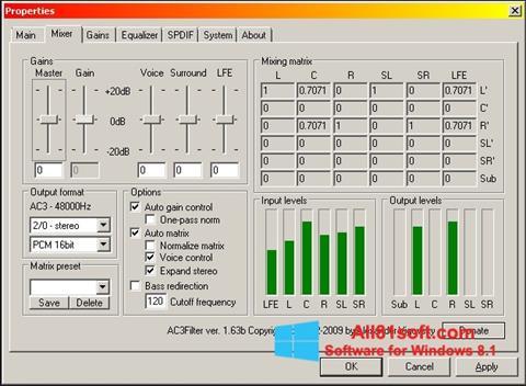 Ekran görüntüsü AC3 Codec Windows 8.1