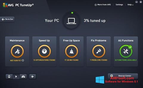 Ekran görüntüsü AVG PC Tuneup Windows 8.1
