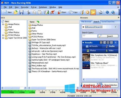 Ekran görüntüsü Nero Burning ROM Windows 8.1