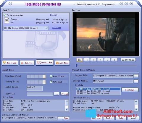 Ekran görüntüsü Total Video Converter Windows 8.1