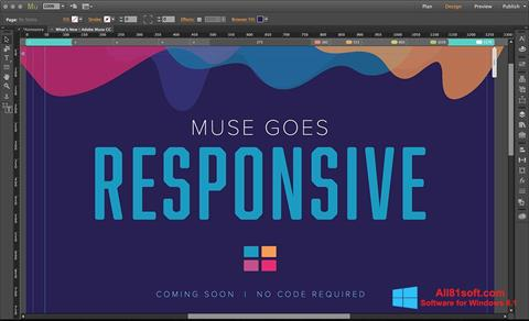 Ekran görüntüsü Adobe Muse Windows 8.1