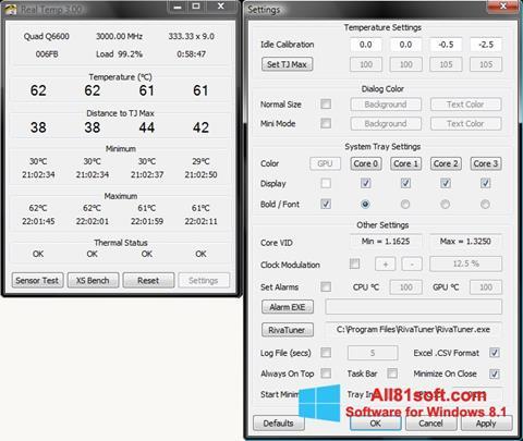 Ekran görüntüsü Real Temp Windows 8.1