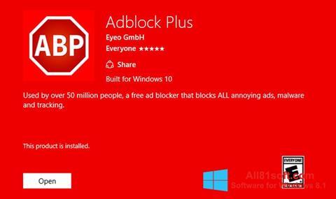 Ekran görüntüsü Adblock Plus Windows 8.1