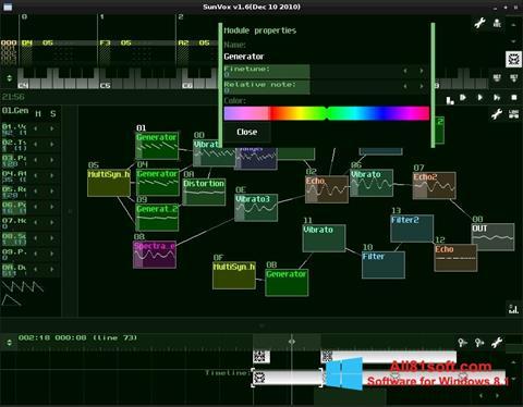 Ekran görüntüsü SunVox Windows 8.1